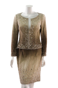 escada-plisse-sequin-embellished-skirt-suit-bronze-ombre
