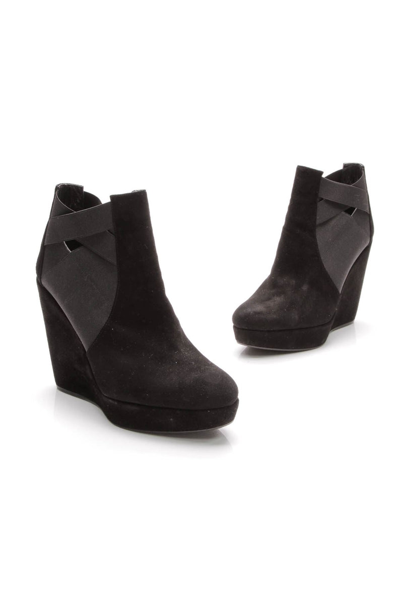 2aad251ac6d3 Hiyola Platform Wedge Ankle Boots - Black – Couture USA