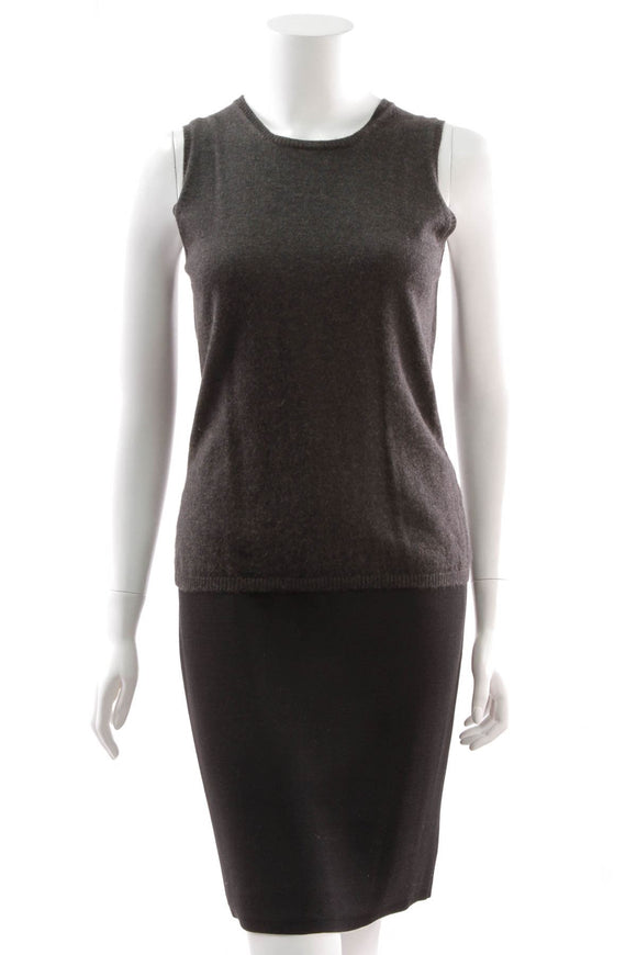 chanel-knit-cashmere-tank-top-dark-gray