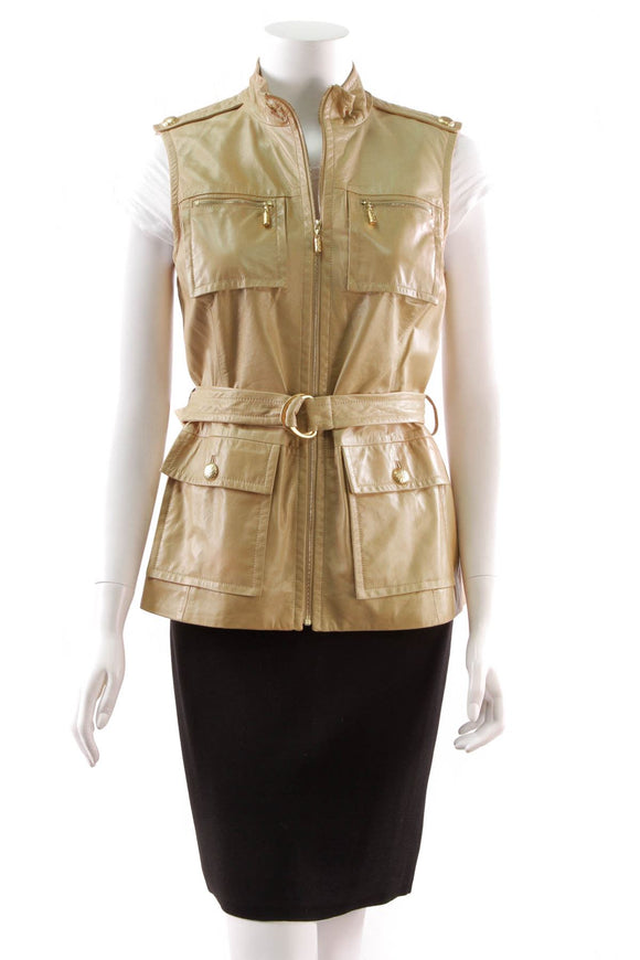 st-john-belted-leather-vest-tan