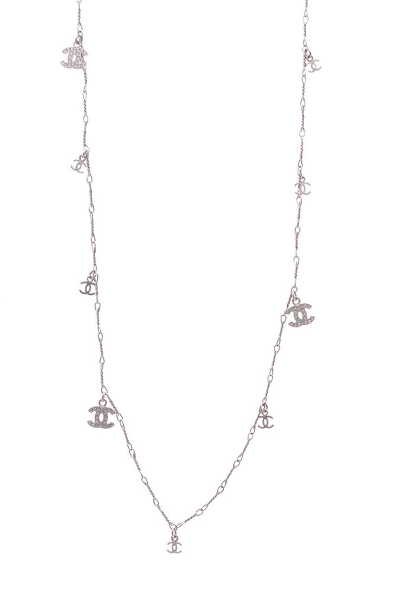 chanel-cc-charm-necklace-silver