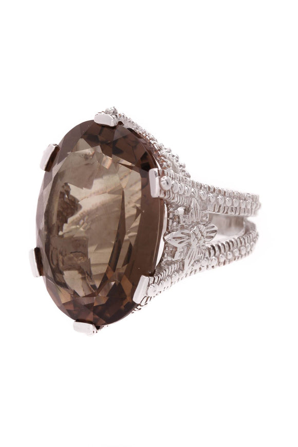 stephen-dweck-oval-smoky-quartz-ring-sterling-silver