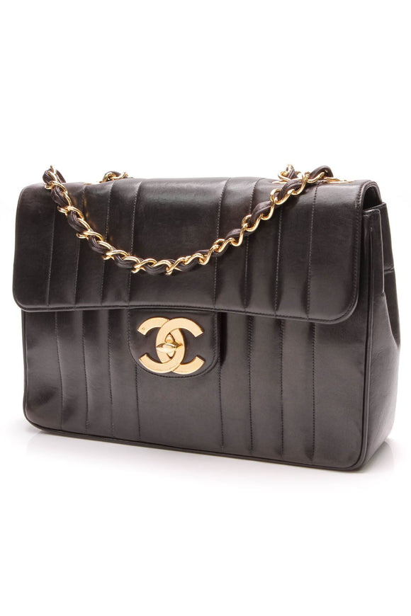 chanel-vertical-quilt-jumbo-flap-bag-black