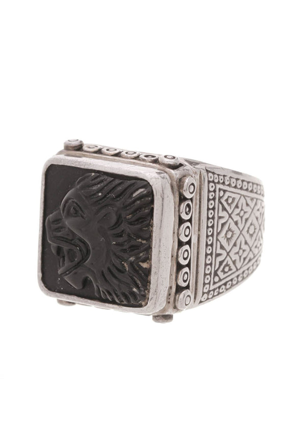 konstantino-lion-sparta-mens-ring-black-onyx