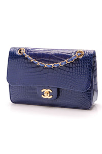 chanel-classic-double-flap-bag-small-blue-alligator