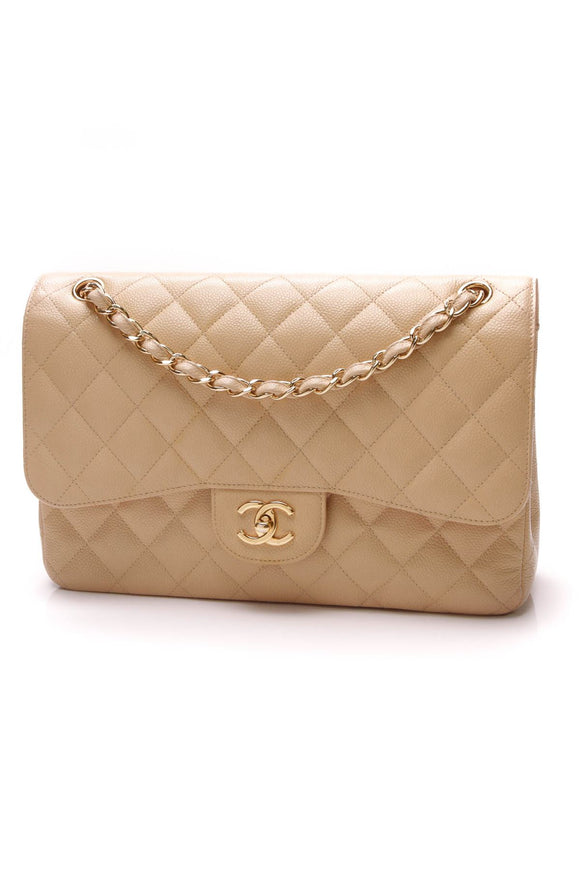 chanel-classic-double-flap-bag-jumbo-beige-caviar