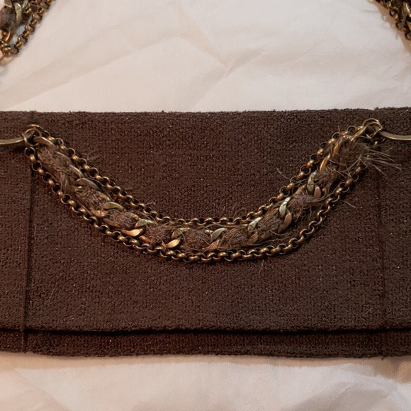 St.John Embellished Chain Clutch bag