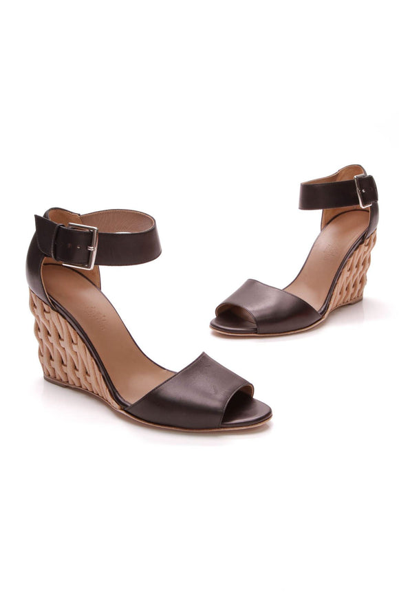 hermes-woven-wedge-sandals-black