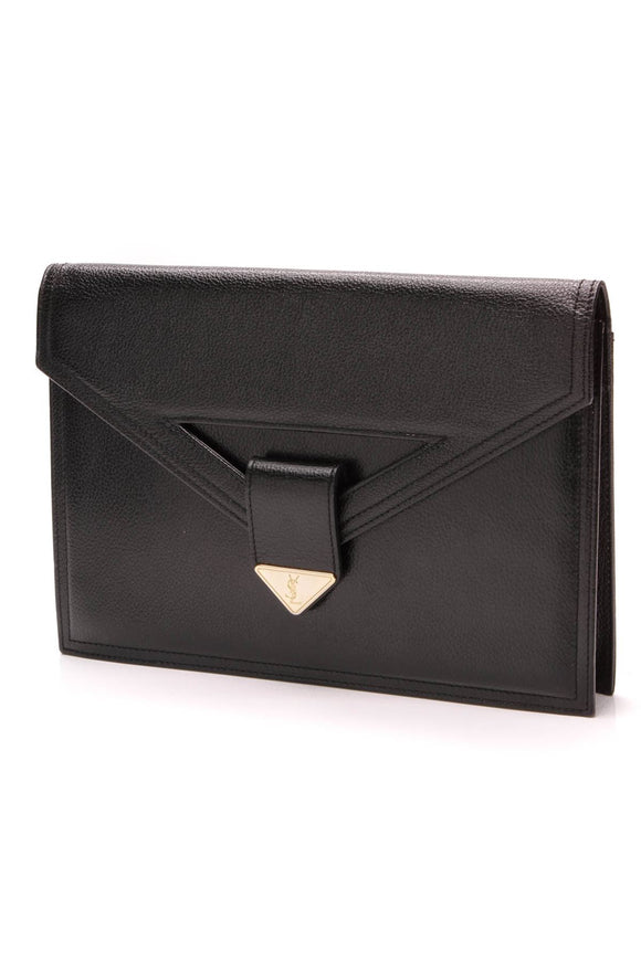 yves-saint-laurent-vintage-envelope-clutch-black