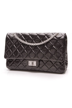 157f8f54619730 2.55 Reissue Double Flap Bag - 227 Black. Chanel