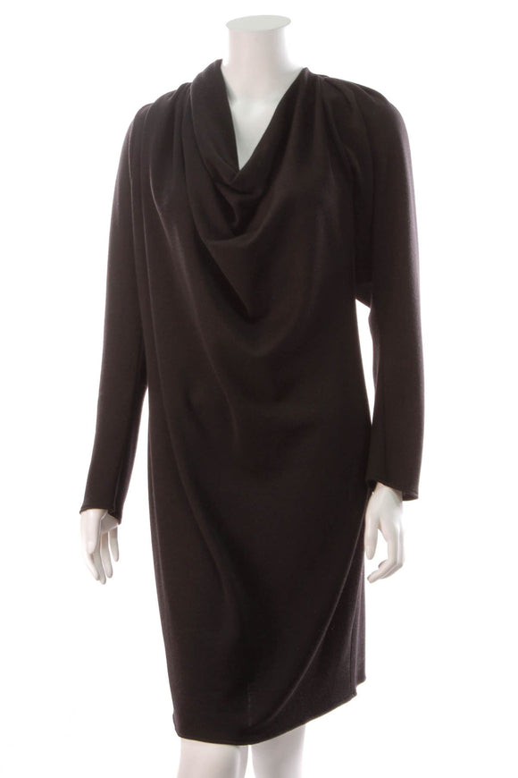 lanvin-asymmetric-long-sleeve-dress-black