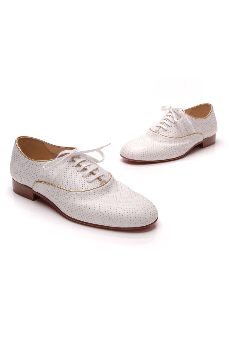 Alfred Men S Dress Shoes White Gold Size 9