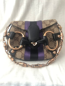 Gucci Small Canvas Horsebit Clutch bag