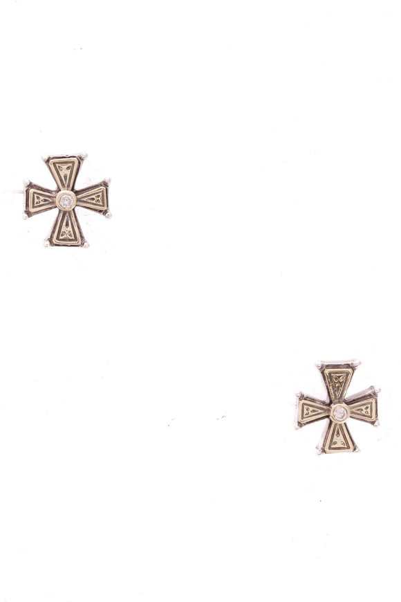 konstantino-diamond-cross-stud-earrings