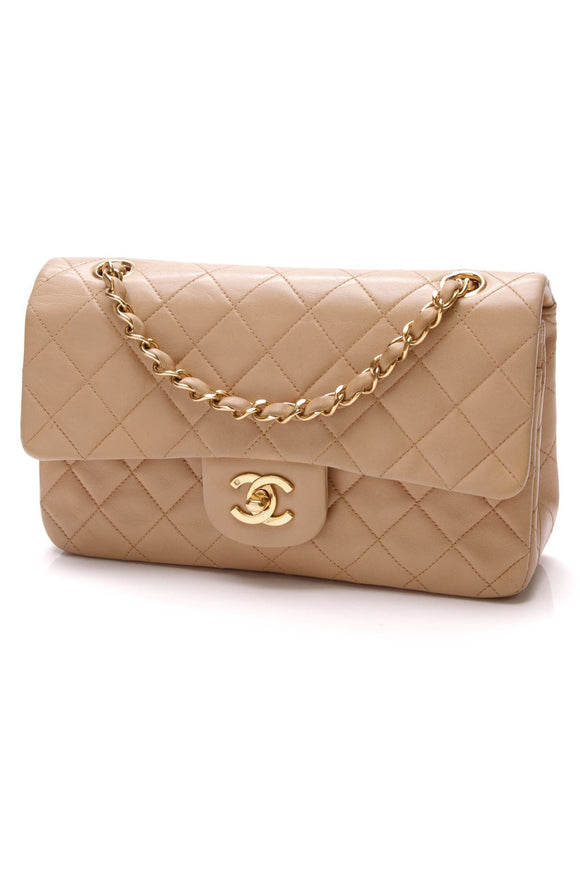 chanel-classic-double-flap-bag-small-beige-lambskin