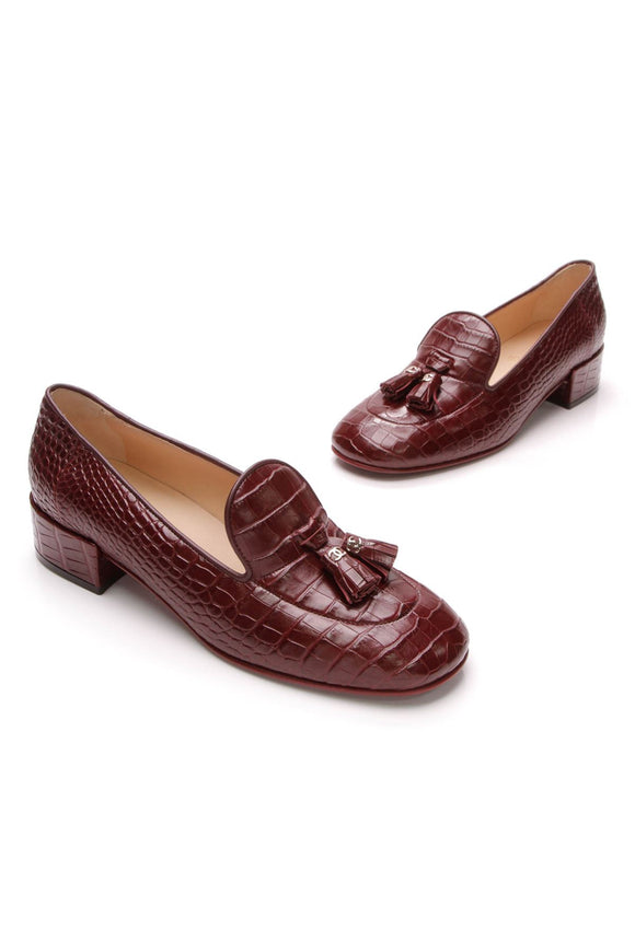 chanel-alligator-tassel-loafers-burgundy