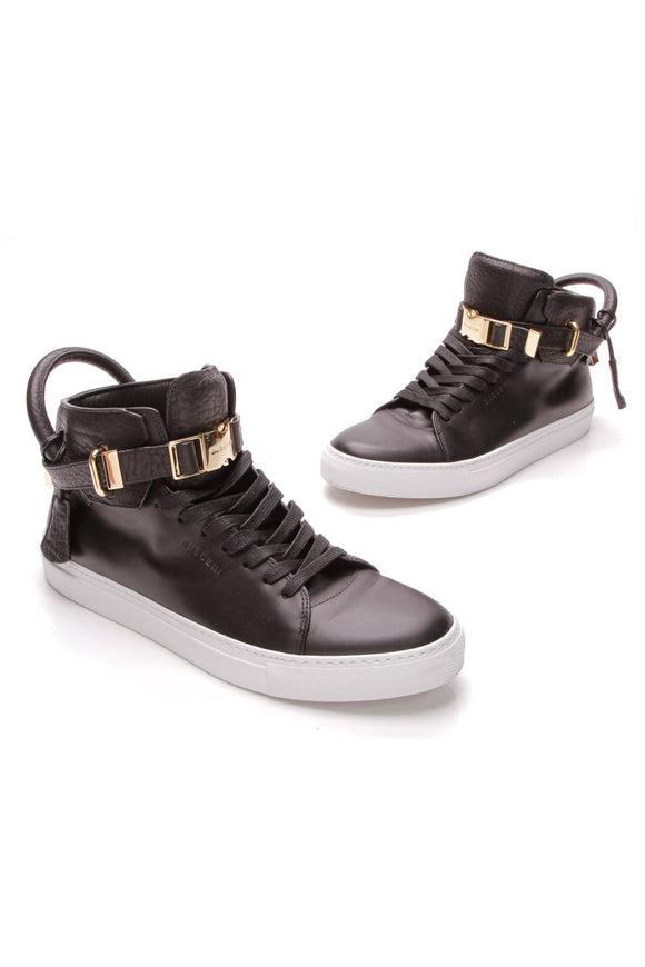 buscemi-bison-clip-100mm-mens-sneakers-black
