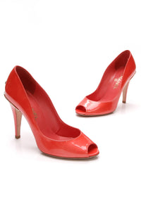 chanel-cc-peep-toe-pumps-coral-red