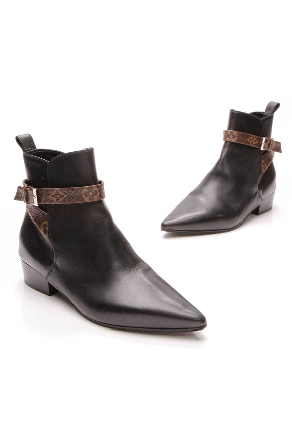 cb8fb32f51e9 Black Charlotte Booties - Leather – Couture USA
