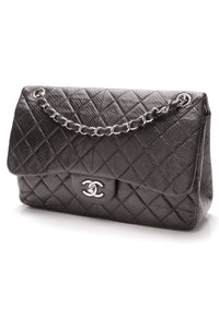 chanel-classic-double-flap-bag-jumbo-black-lizard