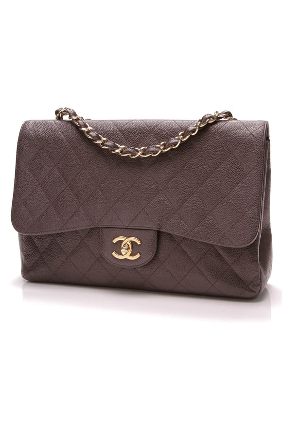 chanel-classic-flap-bag-jumbo-brown-caviar