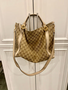 Gucci Canvas convertible tote