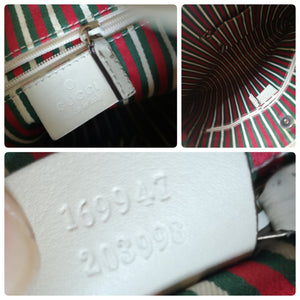 Gucci white  britt hobo bag