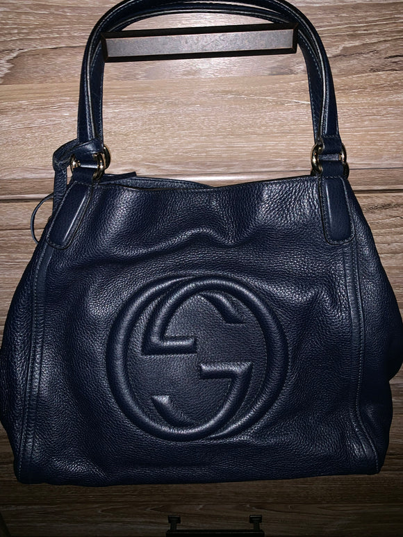 Gucci Navy Soho Tote bag