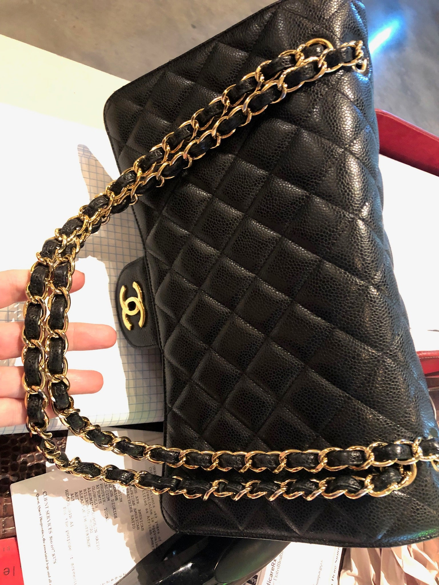 Chanel Caviar  Double Flap bag