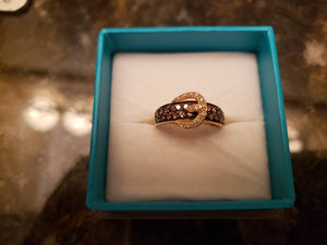 Levian Chocolate Buckle ring