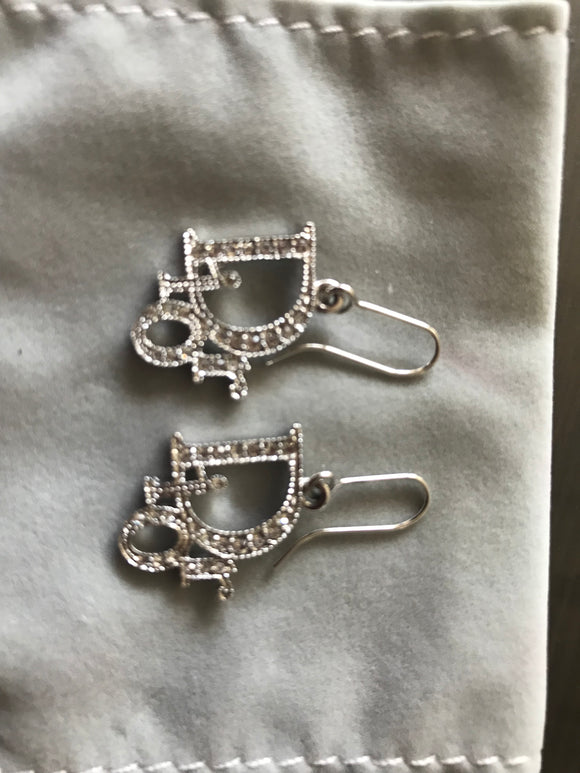 Christian Dior Logo Crystal earrings
