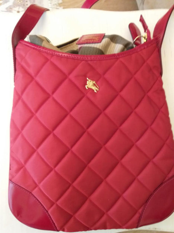 Burberry red Quilted crossbody bag
