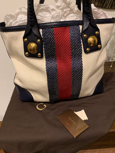Gucci Sunset Web Tote bag
