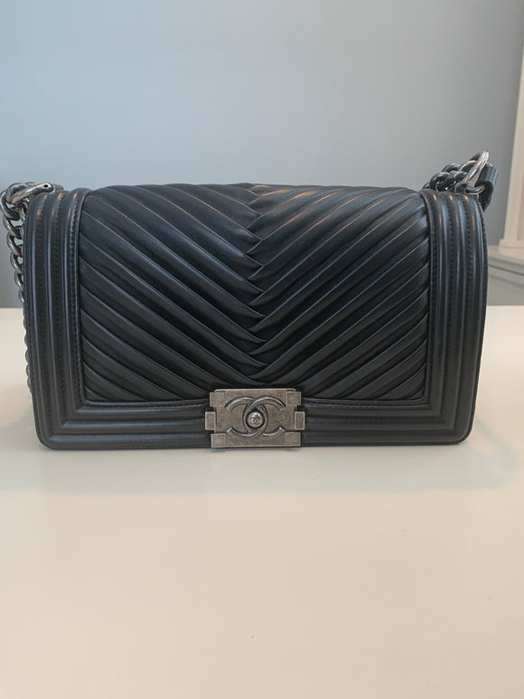 Chanel Medium chevron Boy Bag