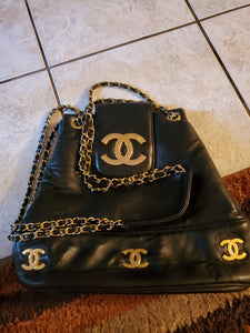 Chanel Vintage CC backpack