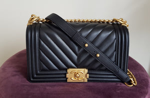 Chanel Chevron Medium Boy Flap bag