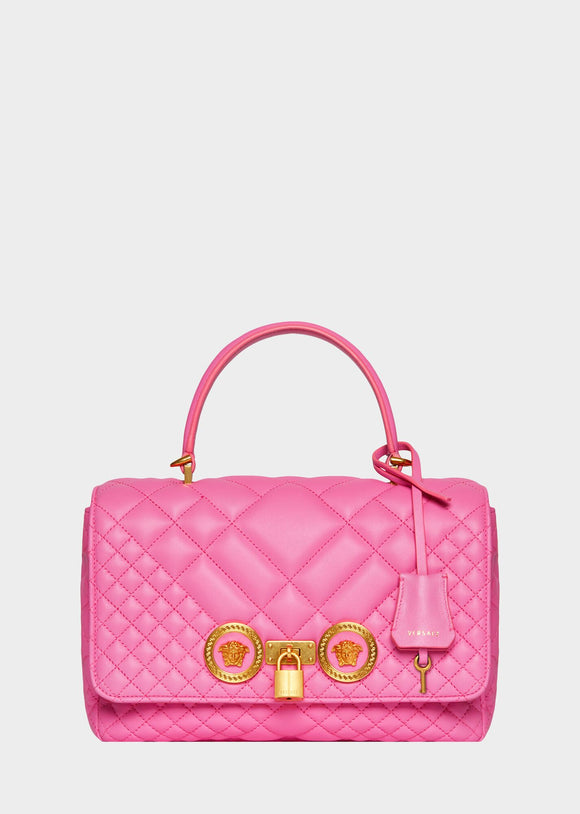 Versace quilted icon top Handle bag