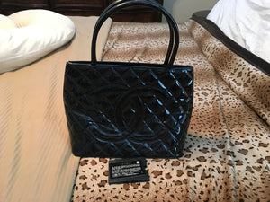 Chanel Patent Medallion Tote bag