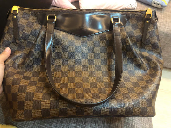 louis vuitton damier westminster mm tote