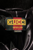 Gucci Dapper Dan Bomber Jacket Black Gold Size Large