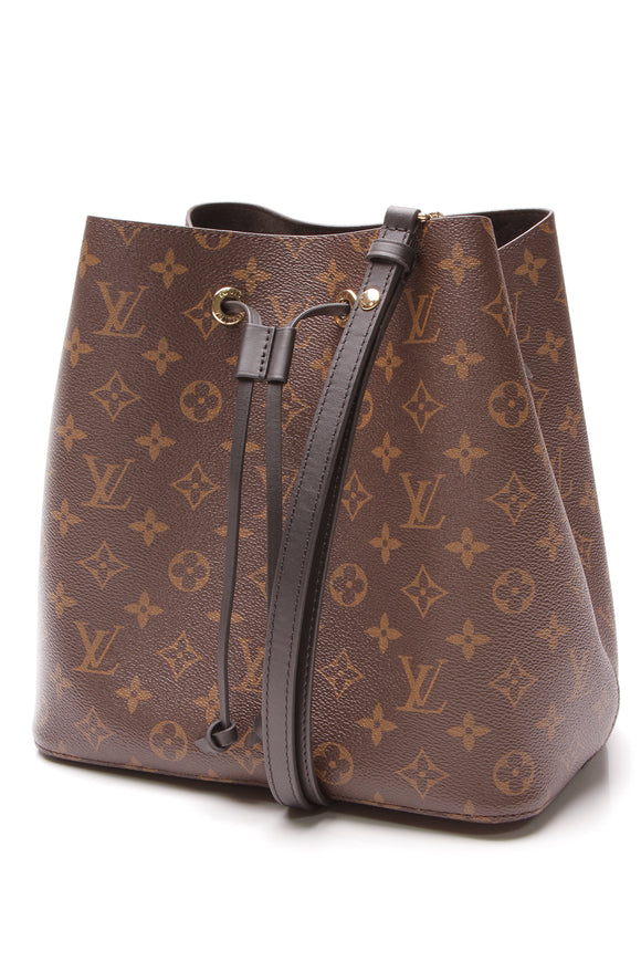 Louis Vuitton NeoNoe MM Bag Monogram Noir Brown Black