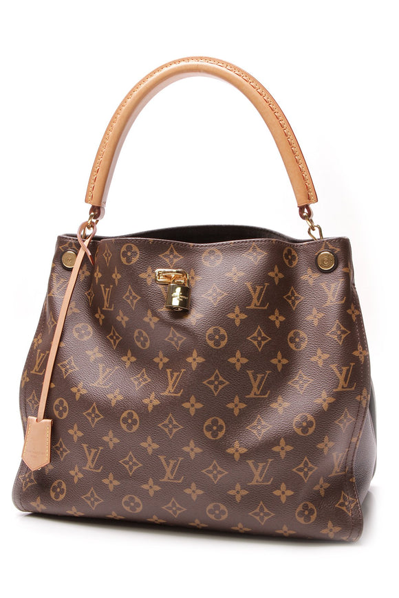 Louis Vuitton Gaia Shoulder Bag Monogram Noir Brown Black