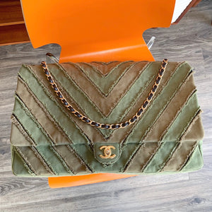 Chanel Patchwork cubaflap bag