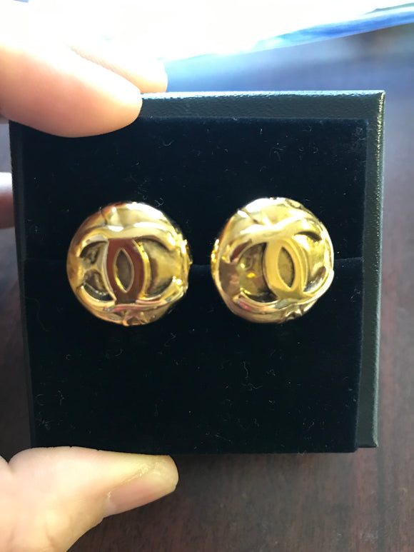 Chanel CC Dome earrings