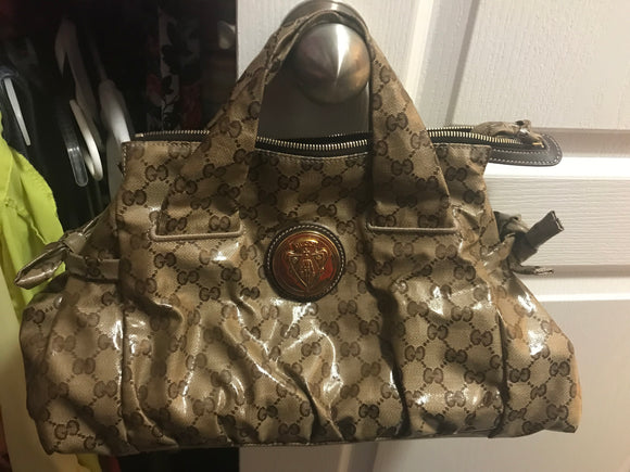 Gucci Crystal Canvas Hysteria bag