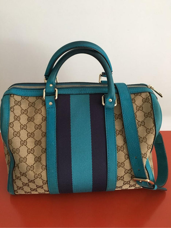 Gucci Signature Canvas Boston bag