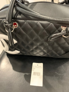 Chanel Black and white cambon bowler bag