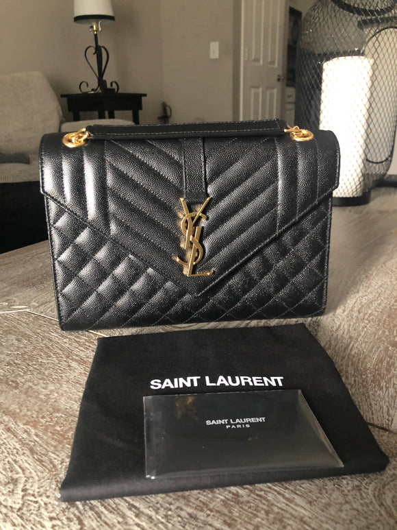YSL Tri-Quilt Envelope Medium Bag