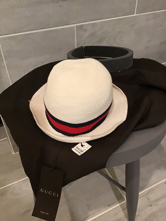 Gucci Web Trimmed hat