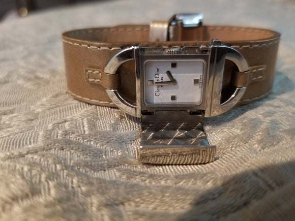 Dior Leather Latch watch